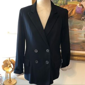 Anthropologie Knit Double Breasted Blazer